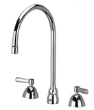 "Zurn Z831C1-XL Lead-Free Widespread Faucet with 8"" Gooseneck and Lever Handles"