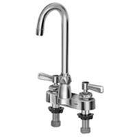 "Zurn Z812A1-XL Lead-Free 4"" Centerset Faucet with 3-1/2"" Gooseneck and Lever Handles"