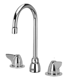 "Zurn Z831B3-XL Lead-Free Widespread Faucet with 5-3/8"" Gooseneck and Dome Lever Handles"