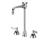"Zurn Z831T1-XL Lead-Free Widespread Faucet with 4-1/2"" Vacuum Breaker Spout and Lever Handles"