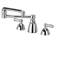 "Zurn Z831K1-XL Lead-Free Widespread Faucet with 13"" Double-Jointed Spout and Lever Handles"