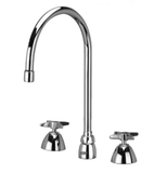 "Zurn Z831C2-XL Lead-Free Widespread Faucet with 8"" Gooseneck and Four Arm Handles"