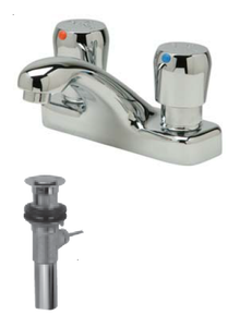 "Zurn Z86500-XL-P Lead-Free 4"" Centerset Metering Faucet with Pop-Up Drain"