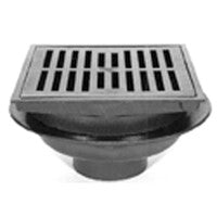 "Zurn Z610-H 12"" Square Heavy-Duty Drain with Hinged Grate"