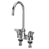 "Zurn Z812B3-XL Lead-Free 4"" Centerset Faucet with 5-3/8"" Gooseneck and Dome Lever Handles"