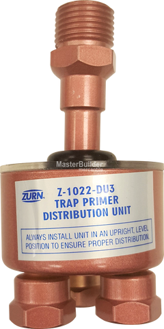 Zurn Z1022-XL-DU3-LT Sani-Gard Automatic Trap Primer 3-Outlet Distribution Unit