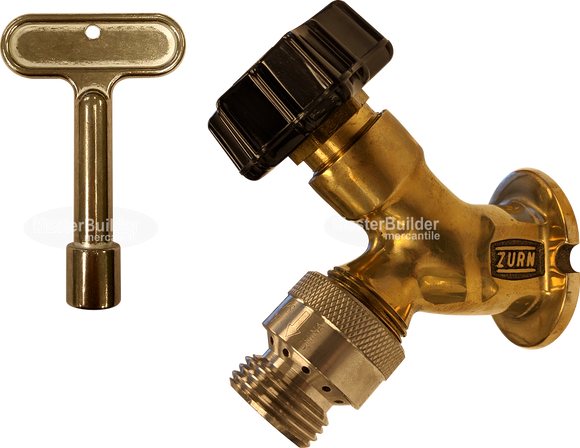 Zurn Z1341XL-PB Polished-Bronze Wall Faucet with External Vacuum Breaker