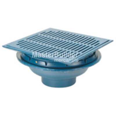 "Zurn Z150 14"" Square Top Promenade Deck Drain with Heel-Proof Grate and Rotatable Frame"