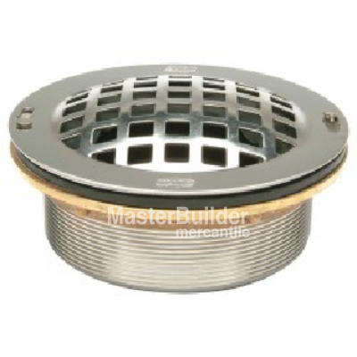 Zurn Z1996-SDL Stainless Steel Drain with Dome Strainer, Lint Basket and Locking Nut