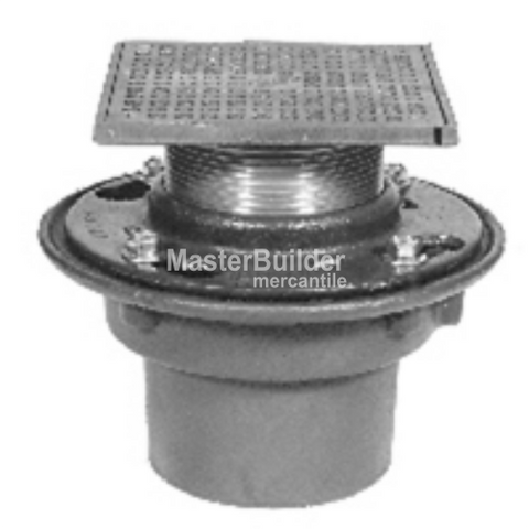 Zurn Z415S ZB415S ZN415S Floor Shower Drain Square Heel-Proof Strainer
