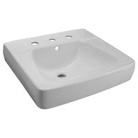 "Zurn Z5318 Series 20"" x 18"" Wall Hung Lavatory w/ 8"" Center Faucet Holes"
