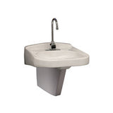 "Zurn Z5321-PED  20"" x 23"" Wheel Chair ADA Lavatory w/ Half Pedestal, Single Faucet Hole"