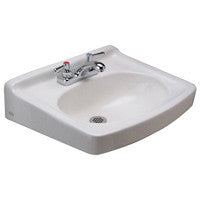 "Zurn Z5354 19"" x 17"" Wall Hung Lavatory w/ 4"" Center Faucet Holes"