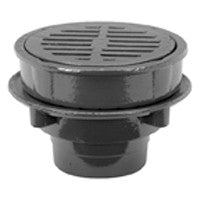 "Zurn Z555 ZN555 8"" Heavy-Duty Floor Drain with Deep Anti-Tilt Grate"