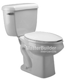 Zurn Z5562 1.6/1.0 GPF Dual Flush Pressure Assist, ADA Height, Elongated, Two-Piece Toilet