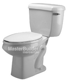 Zurn Z5572-RH Dual Flush Pressure Assist Elongated, Two-Piece Toilet, Right-Hand Trip Lever