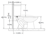 Zurn Z5570 1.6 gpf Pressure Assist, Elongated, Two-Piece Toilet