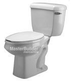 Zurn Z5576-RH 1.0 gpf Pressure Assist, Round Front, Two-Piece Toilet, Right-Hand Trip Lever