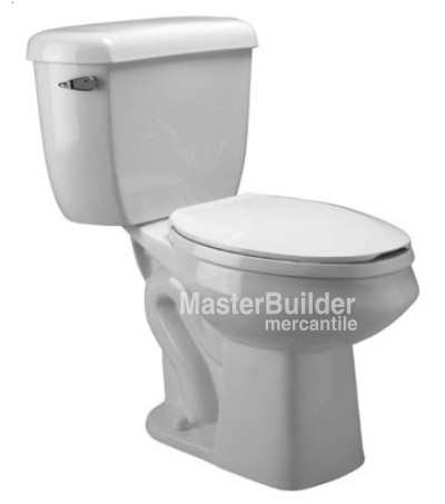 Zurn Z5576 1.0 gpf Pressure Assist, Round Front, Two-Piece Toilet