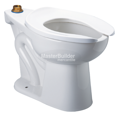 Zurn Z5665-BWL1-AM HET Elongated Floor Mounted, ADA Height EcoVantage® Flush Valve Toilet with Antimicrobial Glaze