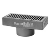 "Zurn Z575-4IP-G 6"" x 12"" Medium-Duty Gutter Drain, 4"" Iron Pipe Connection, Galvanized"