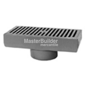 "Zurn Z576 7"" x 15"" Medium-Duty Gutter Drain"