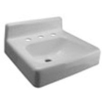 "Zurn Z5838 19"" x 17"" Wall Hung Cast Iron Lavatory w/ 8"" Center Faucet Holes"