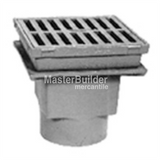 "Zurn Z611 9"" Square Medium-Duty Drain"