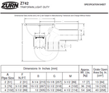 "Zurn Z742-3SP 10"" Light-Duty Top Drain w/ Integral Double Wall Trap, Side Outlet, Backwater Valve"