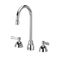 "Zurn Z831B1-XL Lead-Free Widespread Faucet with 5-3/8"" Gooseneck and Lever Handles"