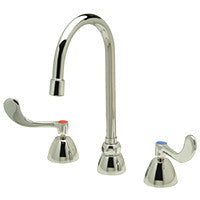 "Zurn Z831B4-XL Lead-Free Widespread Faucet with 5-3/8"" Gooseneck and 4"" Wrist Blade Handles"