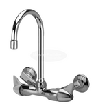 "Zurn Z841B3-XL Service Sink Faucet w/ 5-3/8"" Gooseneck and Dome Lever Handles"