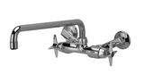 "Zurn Z841I2 Service Sink Faucet w/ 14"" Tubular Spout and Four Arm Handles"