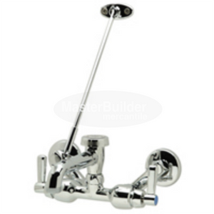 "Zurn Z841M1-XL Sink Faucet w/ 6"" Vacuum Breaker Spout, Lever Handles, Pail Hook, 3/4"" Hose End and Brace"