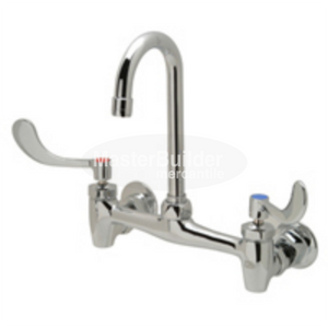"Zurn Z843A4-XL Sink Faucet with 3-1/2"" Gooseneck and 4"" Wrist Blade Handles Lead-Free"