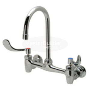 "Zurn Z843B4-XL Sink Faucet with 5-3/8"" Gooseneck and 4"" Wrist Blade Handles Lead-Free"