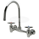 "Zurn Z843C2-XL Sink Faucet with 8"" Gooseneck and Four-Arm Handles Lead-Free"