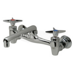 "Zurn Z843F2-XL Sink Faucet with 6"" Cast Spout and Four-Arm Handles Lead-Free"