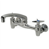 "Zurn Z843G2-XL Sink Faucet with 8"" Cast Spout and Four-Arm Handles Lead-Free"