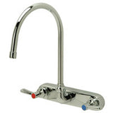 "Zurn Z871C1-TWM-15F Lead-Free 8"" Centerset Wall-Mounted Faucet with 8"" Gooseneck and Lever Handles"