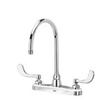 "Zurn Z871C4-XL Lead-Free 8"" Centerset Faucet with 8"" Gooseneck and 4"" Wrist Blade Handles"