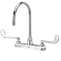 "Zurn Z871C6-XL Lead-Free 8"" Centerset Faucet with 8"" Gooseneck and 6"" Wrist Blade Handles"