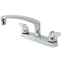 "Zurn Z871G3-XL Lead-Free 8"" Centerset Faucet with 8"" Cast Spout and Dome Lever Handles"