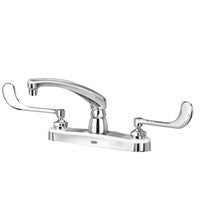 "Zurn Z871G6-XL Lead-Free 8"" Centerset Faucet with 8"" Cast Spout and 6"" Wrist Blade Handles"