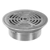 Zurn ZN400-6R ZN400-9R Medium-Duty Round Nickel Bronze Floor Drain Strainer with Surface Clamp Ring and Grate