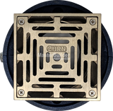 Zurn ZN211-Y-P Non-Membrane Floor Drain w/ Medium Duty Square Nickel Bronze Strainer
