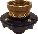 Zurn ZN415-S Floor Drain with Nickel Bronze Hub Funnel