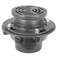 "Zurn ZX415-5A Floor Drain with Heavy-Duty 5"" Round Cast Iron Strainer"