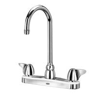 "Zurn Z871B3-XL Lead-Free 8"" Centerset Faucet with 5-3/8"" Gooseneck and Dome Lever Handles"