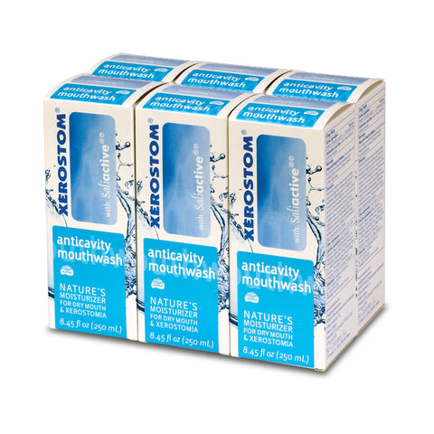 Xerostom Drymouth Anticavity Mouthwash (6 bottles)